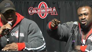 Cedric vs William | Mr. Olympia Press Conference 2018