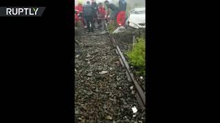 RAW: First response to motorway bridge collapse in Genoa