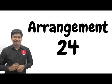 ARRANGEMENT _ #24 ( For all BANK EXAM)