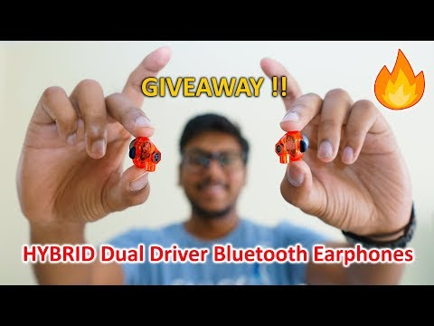HYBRID Dual Driver Wireless Earphones Review + Giveaway !!