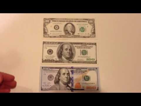 New 100 Dollar Bill Vs. Old And Older Bill
