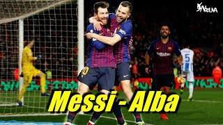 The Jordi Alba - Lionel Messi Connection ● Alba All 19 Assists to Messi (HD)