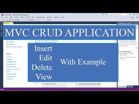 Asp.net Mvc : Create Update Delete View With Entity Framework