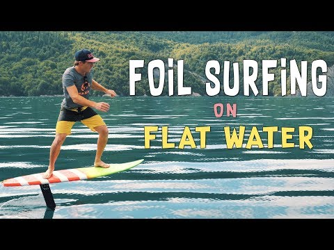 Foil Surfing on Flat Water | Hydrofoil pumping by HORUE®