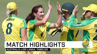 Aussie thrash Sri Lanka to secure world record | Third CommBank ODI