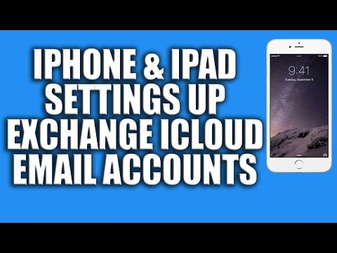 iPhone And iPad Settings up Exchange iCloud Yahoo, Gmail, Hotmail or AOL Email Accounts