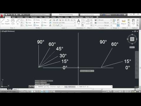 AutoCAD 2013 Tutorial | Rotating Objects | InfiniteSkills