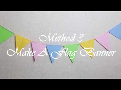 COOL! Make A Flag Banner DIY Easy - DIY Kids | DIYCraftivi