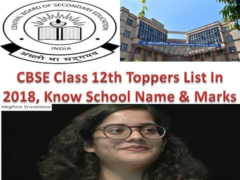 CBSE Class 12th Toppers List In 2018, Know Their Schools Name