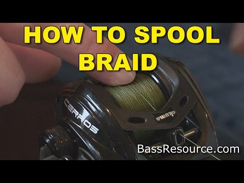 How To Spool Braid On A Baitcaster | Bass Fishing