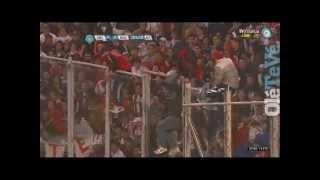 Los incidentes en la tribuna de River vs Velez /// AcaEstaLaHinchada.blogspot.com.ar