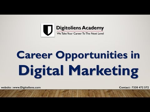 Digital Marketing Career in India | Jobs | Career | Courses | Salary | For Training : 7330472572