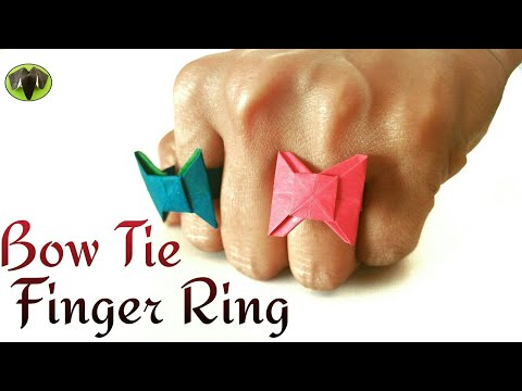 Bow Tie 🎀 Finger Ring 💍 -DIY Origami Tutorial by Paper Folds ❤️