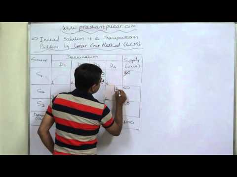 Transportation Problem - 4 -  Least Cost Method (LCM) - 1