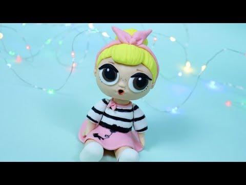 LOL Surprise Cake! How to make LOL Surprise Doll cake topper / DIY Sis Swing LOL Doll