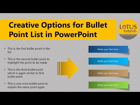 PowerPoint Tips and Tricks: Creative Options for Bullet Point List