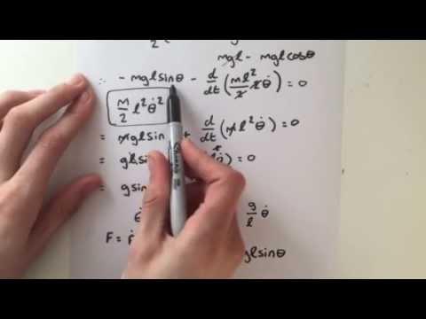 Exercise V (Solution): Classical Mechanics - Equations of motion of a pendulum