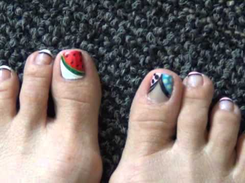 Toe Nail Design- French Designs