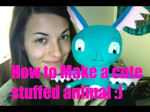 How to make a Cute stuffed animal out of Fabric! DIY handmade sewing tutorial
