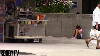 تجربة اجتماعية في امريكا هل سوف تساعد طفلة جائعة في الشارع ؟ مترجم