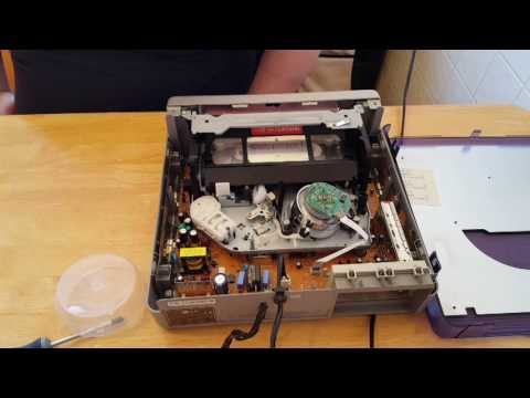 How to Clean And remove mold from VHS tapes Using A spare VCR