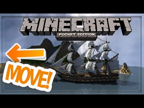 MCPE: How to make a movable pirate ship | command block