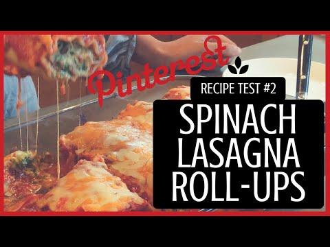 Easy Spinach Lasagna Roll-Ups (Vegetarian) (Eggless) - PINTEREST RECIPE TEST #2