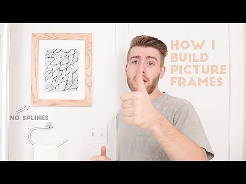 How To Build a Picture Frame - The Best Way | Modern Builds | DIY