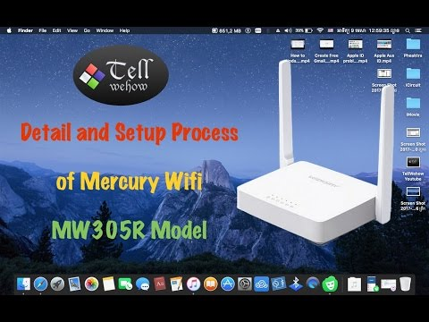 Detail and How to setup wifi password of Mercury Wifi router 2017