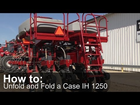 How to Unfold and Fold a Case IH 1250 Planter