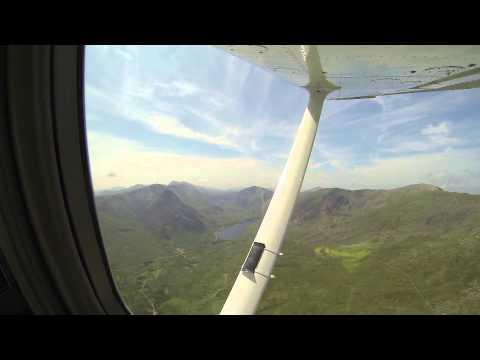 Flight over Snowdonia