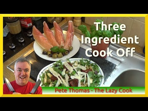 Three Ingredient Cook Off - Pork, Artichokes and Melon
