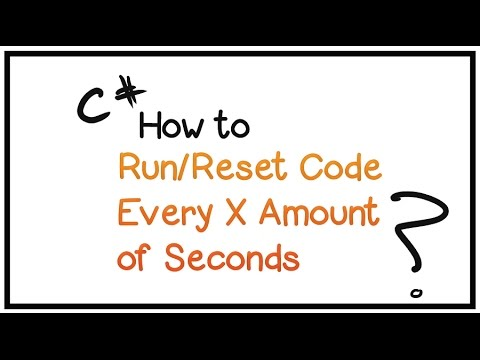 Learn To Program In C# -Beginners Tutorial- Part 21 - Run/Restart Code Every X Amount of Seconds