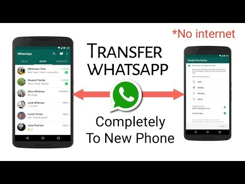 Transfer whatsapp from one phone to another || android and ios both !!