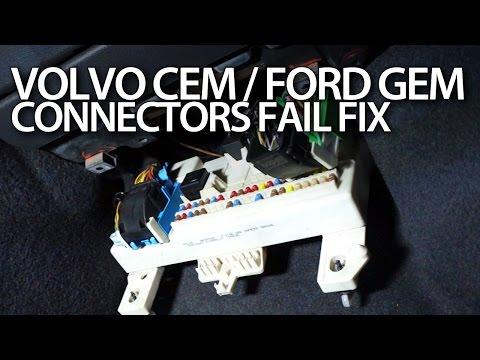 Volvo V50 CEM / Ford Focus MK2 GEM connectors fix