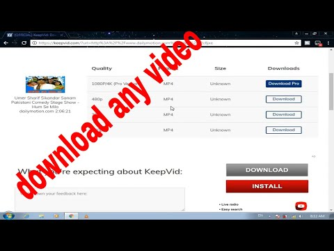 how to download videos from dailymotion,facebook,youtube etc