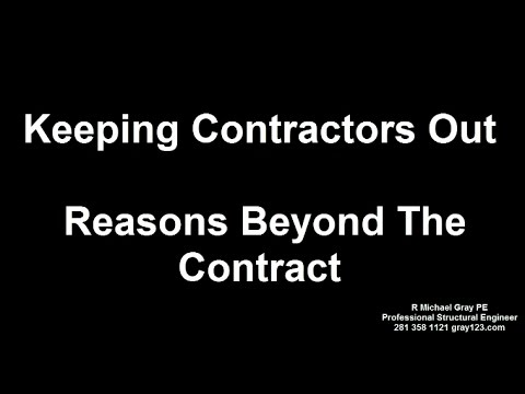 Why You Should Not Rely On A Foundation Repair Contractor - Non Contractural Issues