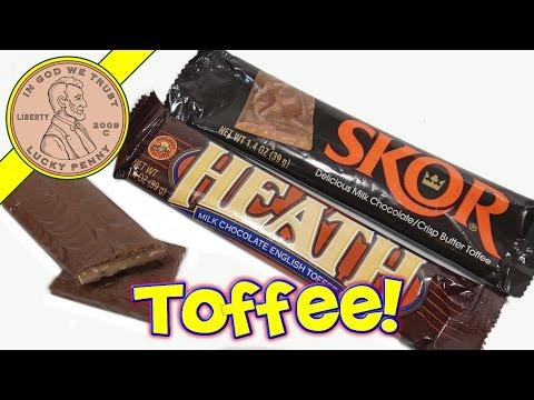 HEATH & SKOR Milk Chocolate English Toffee Bar Comparison