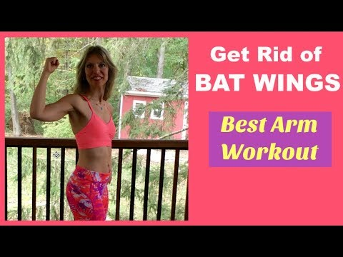 BAT WINGS WORKOUT: Get Rid of Flabby Arms | Tone Loose Tricep Skin | Best Exercises For Defined Arms