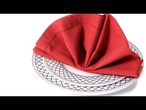 How to Fold a Napkin into a Standing Fan | Napkin Folding
