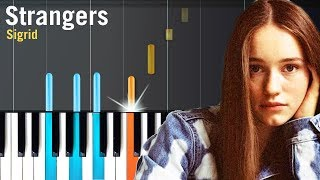 """Sigrid - """"Strangers"""" Piano Tutorial - Chords - How To Play - Cover"""