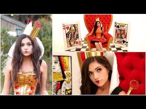 DIY Tim Burton's Queen of Hearts Costume + Makeup!