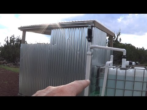 Rain Harvesting for Outdoor Shower, Bath House