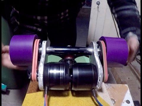 DIY electric longboard how to part 2 Motor mounts