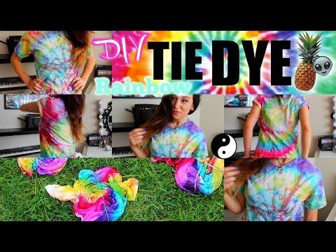 DIY Tie Dye Spiral Easy 80's Grunge + Surprise GIVEAWAY :O