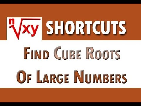 Shortcut To Find Cube Of Any Number Fast - Simple way to find cube roots of large number