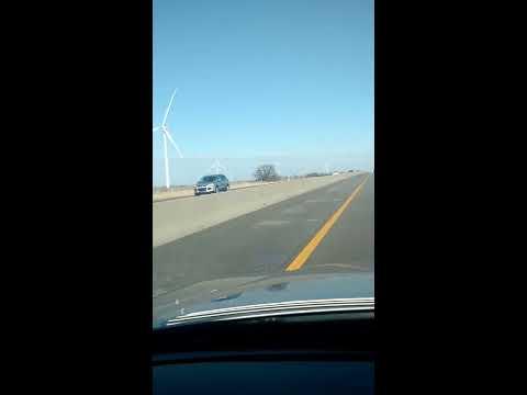 Huge windmills in Kansas. Kinda of cool. Kinda creepy...