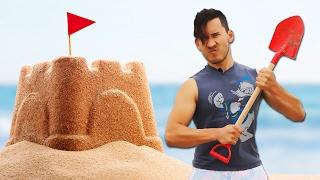 markiplier makes a sand castle