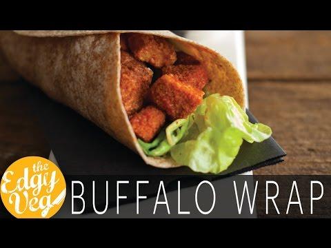 Vegan Recipe:  Buffalo Chicken Caesar Wrap | The Edgy Veg