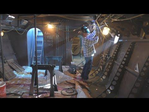 Cargo Hold Walls - Furring Strips,  Making Studs, Painting, Dewalt Surface Planer